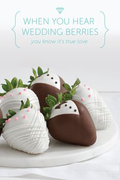 When you hear wedding berries, you know it's true love! A unique and delicious wedding, bridal shower, or engagement gift idea from @sharisberries.