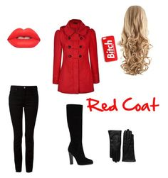 """""""red coat pretty little liars"""" by mysterygirldiary ❤ liked on Polyvore"""