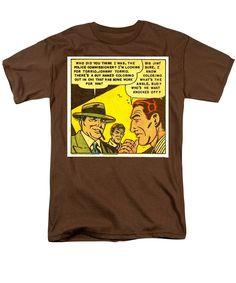 Popart Men's T-Shirt (Regular Fit) featuring the mixed media Crime And Punishment 2 by Otis Porritt