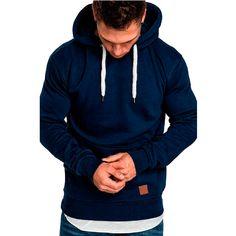 04eab154d90b Fashion Casual Solid Color Sport Hoodie – Coastoo Plain Hoodies, Men's  Hoodies, Hooded Sweatshirts