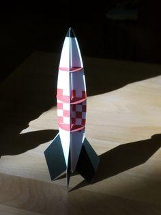 make a paper rocket printable