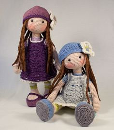 Crochet pattern for doll LILLY от CAROcreated на Etsy