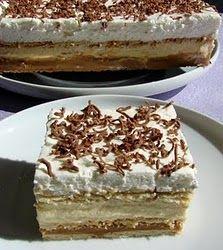 3 Bit (sütés nélkül) - I just LOVE this one! My favorite dessert after cheesecake! Hungarian Desserts, Hungarian Recipes, Sweet Desserts, No Bake Desserts, Dessert Recipes, Austrian Recipes, Creative Desserts, Cake & Co, Icebox Cake