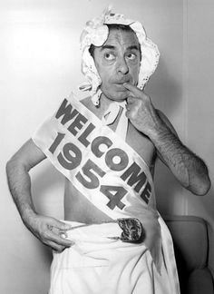 Were you born in 1954? Here's Eddie Cantor welcoming in your birth year!