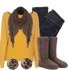 """""""Mustard Meow 7"""" by qtpiekelso on Polyvore"""