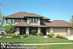 Prairie Style Home Plan - 14469RK | Contemporary, Northwest, Prairie, Luxury, Photo Gallery, Premium Collection, 2nd Floor Master Suite, CAD Available, Den-Office-Library-Study, Jack & Jill Bath, MBR Sitting Area, PDF | Architectural Designs
