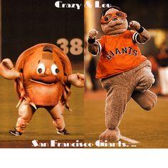 Crazy Crab & Lou Seal San Francisco Giants