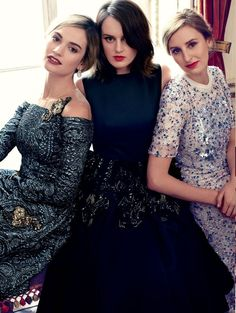 A GLAMOROUS LIFE: The ladies of Downton Abbey by Alexi Lubormirski for Harpers Bazaar UK August 2014