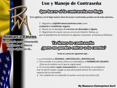 Uso y manejo de tu contraseña. #RomarcaEnvios #EnvioDeDinero #VenezolanosEnElExterior