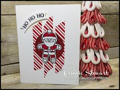 MAKE IT IN MINUTES - Create this Ho Ho Ho Santa card in a matter of minutes! Check it out at www.SimplySimpleStamping.com - look for the October 13, 2016 blog post