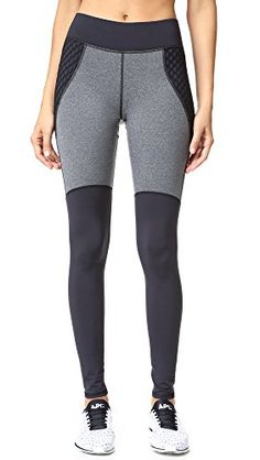27ad8aef37137 MICHI Women's Shadow Leggings, Grey Heather/Black, Large at Amazon Women's  Clothing store: