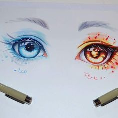 #fire  or #ice ❄️ ? #eye #manga #copic #marker #traditional #art #artist #lighanesartblog #lighane