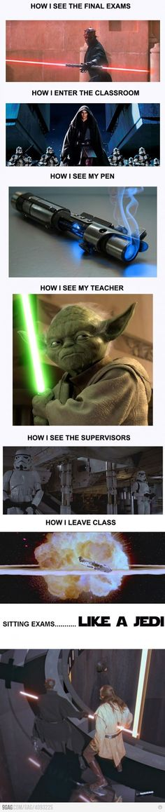 I'm going to ignore the sad picture of Qui-gons death.. But pretty funny otherwise