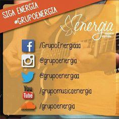 Redes sociais - Grupo Energia - Música Espírita