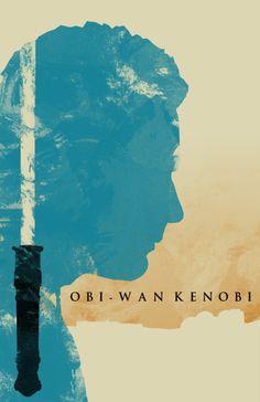"""""""Obi-Wan Kenobi"""" Star Wars: Episode I - The Phantom Menace Artwork by Travis English"""