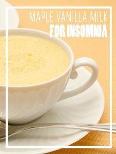 Maple Vanilla Milk for Insomnia - HomesteadingandHealth