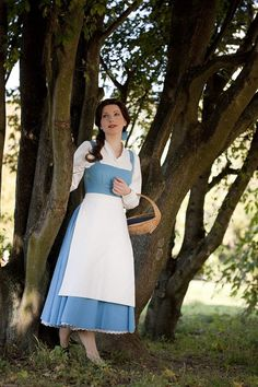 Beautiful Belle cosplay from Beauty and the Beast. - 10 Belle Village Dress Cosplays Such a beautiful cosplay/model. She has such stunning eyes, she should try brown contacts for belle cosplay. Belle Cosplay, Belle Costume, Epic Cosplay, Disney Cosplay, Amazing Cosplay, Disney Costumes, Cosplay Outfits, Cosplay Girls, Cosplay Costumes