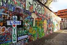 John Lennon Wall, Prague, Czech Republic.