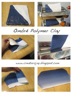 Creator's Joy: How to blend colors with polymer clay free ombre tutorial