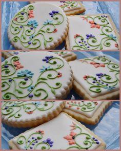 Custom designed, hand created, edible works of art on a chocolate chip, sugar, or chocolate cookie. Summer Cookies, Fancy Cookies, Sweet Cookies, Iced Cookies, Cute Cookies, Easter Cookies, Royal Icing Cookies, Heart Cookies, Valentine Cookies