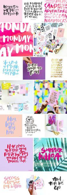 HANDLETTERING | PROCESS RECAP | #handlettering #typography #brushlettering #watercolor