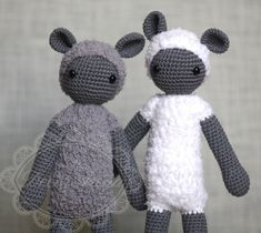 Stuffed Animals – Amigurumi, sheep, lamb, stuffed crochet plush  – a unique product by decoranna on DaWanda