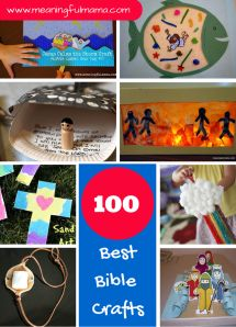 Shout Out!  Check out Meaningful Mamas site where she shares her 100 best bible crafts from around the web. A few from Crafting The Word Of God were lucky enough to be included.