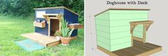 Isn't this dog house adorable? It has a pretty simple and modern design which would look nice in most backyards or gardens. Dog Furniture, Outdoor Furniture, Outdoor Decor, Cool Dog Houses, Backyards, Dog Life, Doggies, Modern Design, How To Look Better