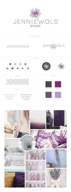 purple blog design for fashion blog