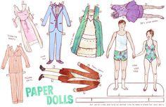 A set of custom paper dolls.