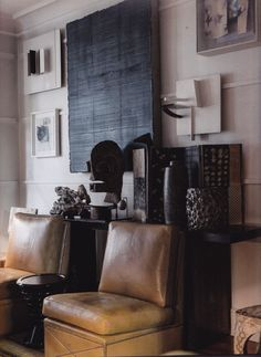A vignette in Chester Jones' London apartment; photo by Andreas von Einsiedel.