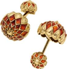 Enamel, Gold Cuff Links, David Webb. ... (Total: 1 Items) Estate | Lot #58028 | Heritage Auctions