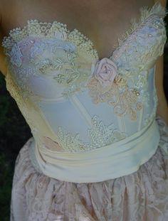 Pearl Gown... Boho skurrilen Frauen Kleid erröten von jadadreaming