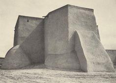 ANSEL ADAMS 1902 - 1984 Church at Ranchos de Taos (Built in 1772) Date: ca. 1929