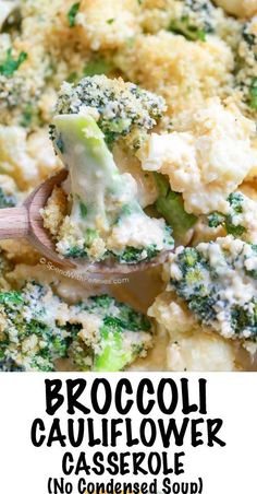 Cheesy Broccoli Cauliflower Casserole is the perfect side dish for any turkey dinner or weeknight meal. This easy side contains no condensed soup. Tender crisp veggies tossed in an easy homemade cheese sauce and topped with a buttery crumb topping. Dinner Side Dishes, Veggie Side Dishes, Healthy Side Dishes, Side Dish Recipes, Vegetable Recipes, Food Dishes, Vegetarian Recipes, Turkey Side Dishes, Thanksgiving Recipes Side Dishes Broccoli