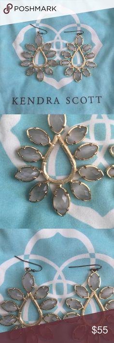 Kendra Scott Gray Earrings Beautiful gray Kendra Scott earrings. Great condition. Bag included. Kendra Scott Jewelry Earrings