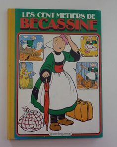 Vintage French Comic Book / Livre de Dessins Animés - Les Cent Métiers de Bécassine - Éditions Gautier-Languereau, Paris