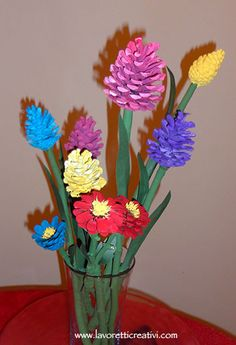 Yard Art Crafts, Fun Crafts, Diy And Crafts, Crafts For Kids, Arts And Crafts, Pine Cone Art, Pine Cone Crafts, Pine Cones, Painted Pinecones