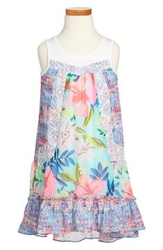 Truly+Me+High/Low+Mixed+Print+Dress+(Toddler+Girls,+Little+Girls+&+Big+Girls)+available+at+#Nordstrom