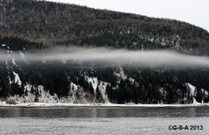 Gaspesie Winter Beach Waves, Mountains, Nature, Outdoor, Outdoors, Naturaleza, Ocean Waves, Outdoor Games, Nature Illustration