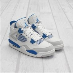 sports shoes 6a4f6 9d91d Mens Military blue Jordan 4s 6 10 condition. Open to offers!! Jordan