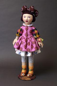 Alma, art doll by Shelley Thornton