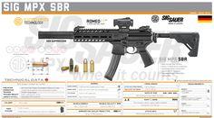 Military Weapons, Weapons Guns, Guns And Ammo, Airsoft Gear, Tactical Gear, Sig Mpx Sbr, Armas Sig Sauer, Custom Guns, Cool Guns
