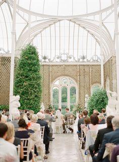 wedding ceremony in The Orangery, Killruddery House  by Brosnan Photographic | onefabday.com