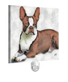 Boston Terrier ' Seely' - Night Light From Doggylips by DoggyLips on Etsy