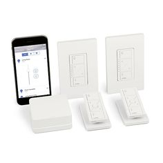 Lutron Caseta Wireless Smart Lighting In-Wall Dimmer Kit - Create personalized lighting schedules and scenes that best fit your everyday routines. Included Smart bridge supports up to 50 devices and works with Alexa, Apple Homekit, Ecobee, Nest, Honeywell, Logitech, Samsung SmartThings, Sonos, Serena shades & more.