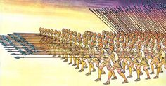 A military strategy the Macedonians had learned from the Spartans was called the Phalanx. They used this in most of their battles and it was a highly effective.