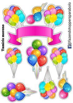 Funny Happy Birthday Song, Happy Birthday Clip Art, Happy Birthday Foil Balloons, Birthday Clips, Happy Birthday Cake Topper, Anniversaire Wonder Woman, Homemade Stickers, Card Making, Quartz