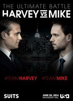 #Suits : #TeamHarvey vs #TeamMike