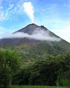 Costa rica - Arenal Volcano. We watched the lava flow at night from our bungalow at Leaves and Lizards. Amazing resort! Very cool!
